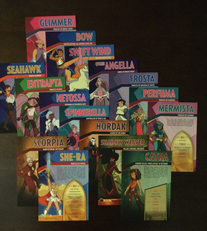She-Ra and the Princesses of Power character cards
