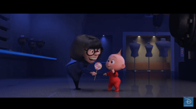 Edna Mode and Jack-Jack in Incredibles 2