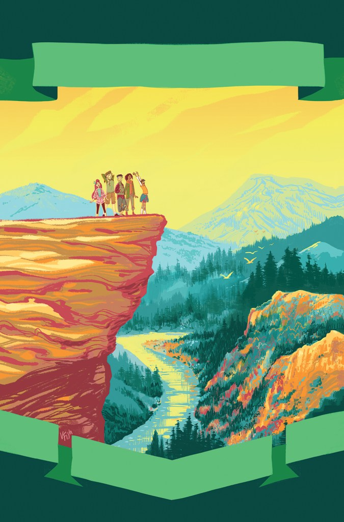 Lumberjanes: Somewhere That's Green variant cover by Veronica Fish