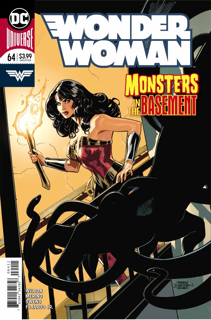Wonder Woman #64 cover by Terry and Rachel Dodson