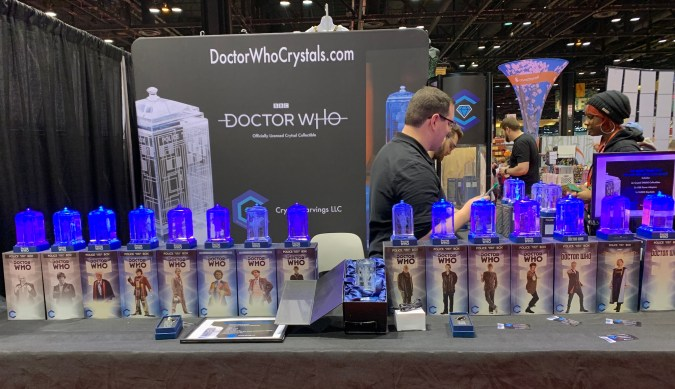 Doctor Who Crystals booth