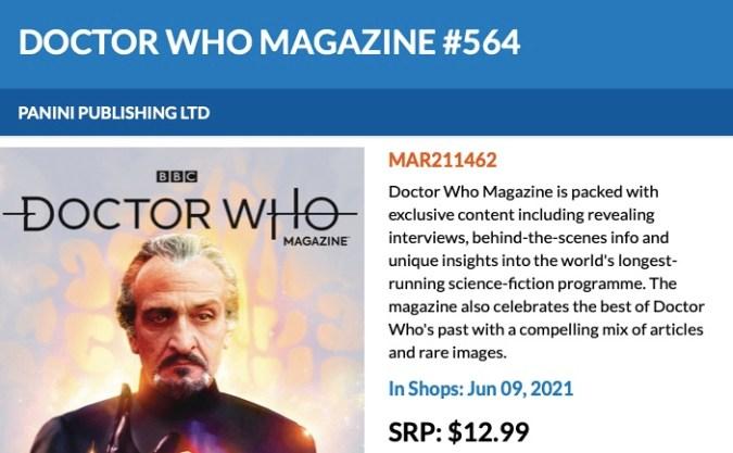 Doctor Who magazine #564