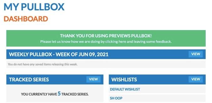 Pullbox dashboard