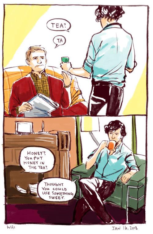 Wai Au Sherlock comic