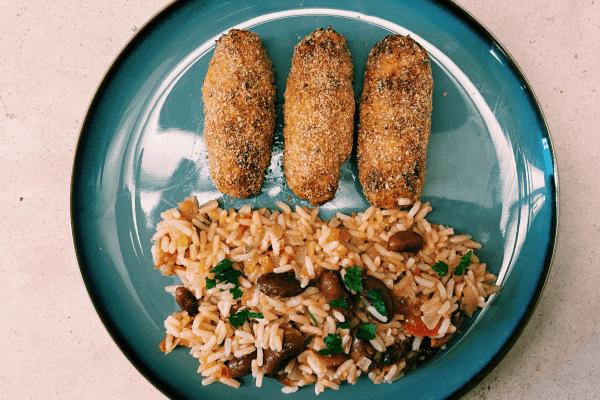 Croquetes de pescada e batata-doce