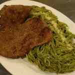 Receta de Tallarines Verdes con bistec