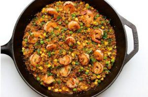 receta de paella de quinoa o quinua