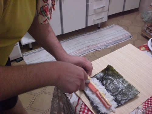 Montando o sushi