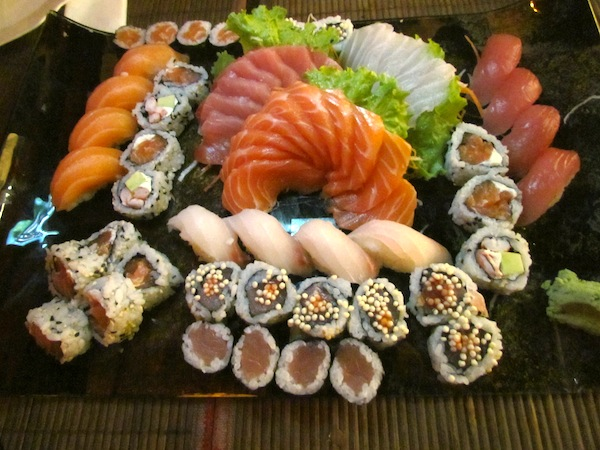 Sushis, sashimis e nigiris