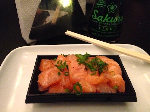 Ceviche de salmão