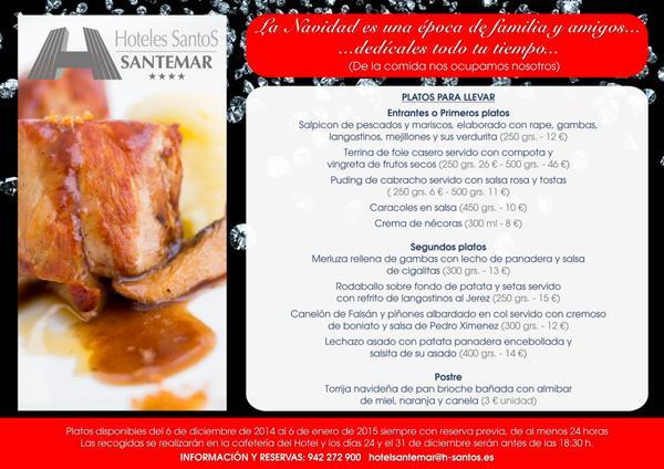 Cena de Navidad para llevar - Hotel Santemar Santander