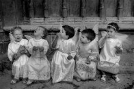 SPAIN. Morella. 1987. The little angels.