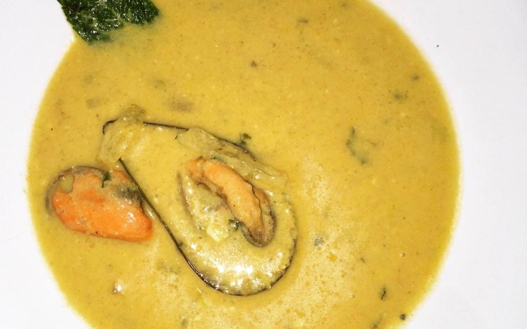 Receta: Sopa de mejillones al curry