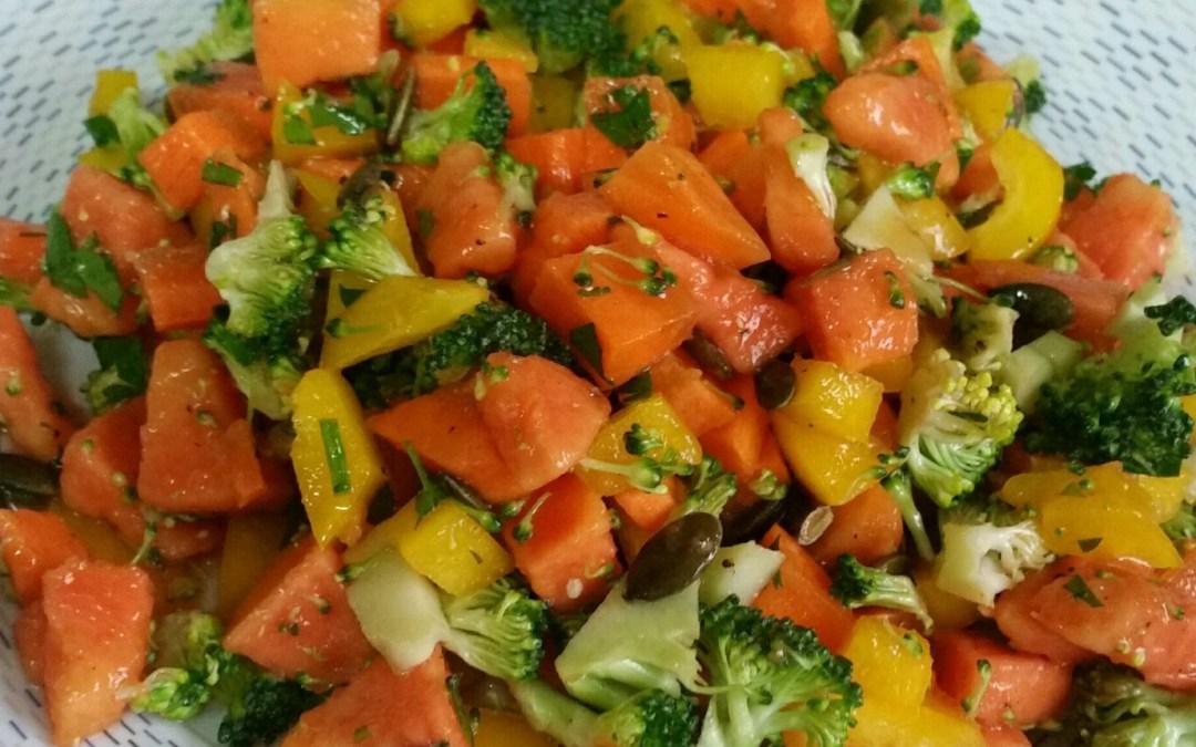 Receta: ensalada templada de brócoli