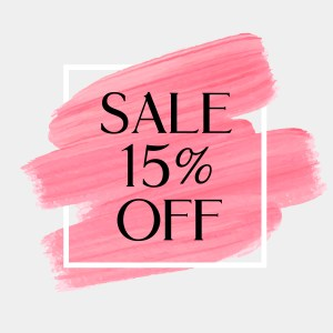 sale 15% off your purchase