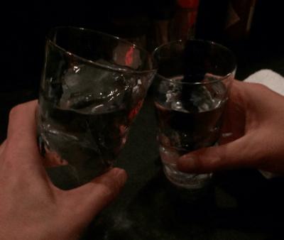 サラリーマンの乾杯