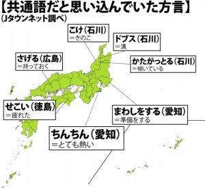 東京あるある:方言に憧れている