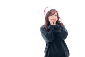 クリスマスを待ち望む女性