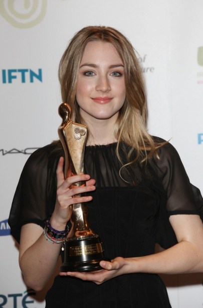 Actress Saoirse Ronan, winner of Best Actress in a supporting role for The Way Back at the Irish Film and Television Awards at Dublin Convention Centre on February 12, 2011 in Dublin, Ireland. (Photo by Tim Whitby/Getty Imagtes for IFTA)