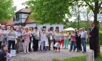 Une partie du groupe franco-allemand à l'inauguration de l'ancre !