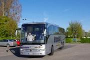 Arrivée à Eterville de nos amis allemands le 5 mai