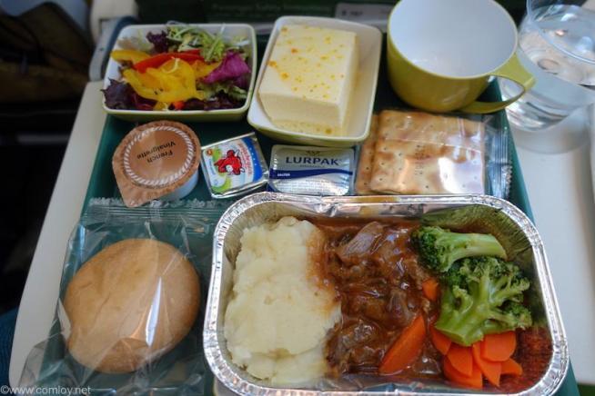 エチオピア航空 ET672香港ー成田エコノミークラス機内食