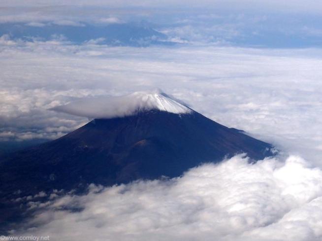 眼下に富士山が見えます。