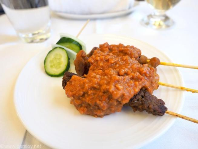Appetizer MALAYSIAN SATAY Charcoal hand-grilled chicken and beef skewers, peanut sauce and traditional accompaniments