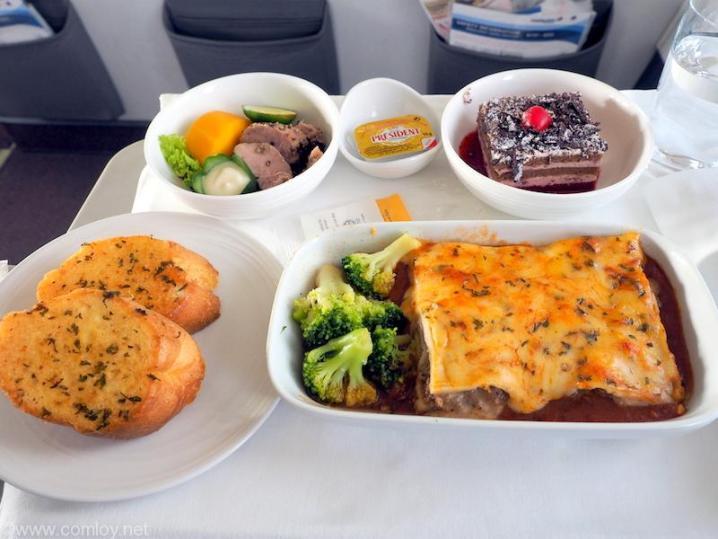 マレーシア航空 MH780 ビジネスクラス機内食