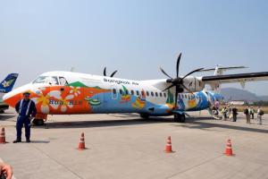 バンコクエアウェイズ PG942 ルアンパバーンーバンコク ATR-72