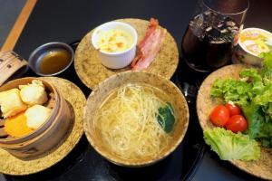 スワンナプーム空港 キャセイパシフィック航空 ラウンジ 朝食