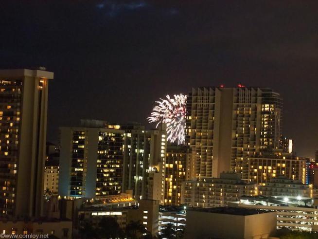 ヒルトンハワイアンビレッジの花火