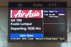 エアアジア AK704 シンガポールークアラルンプール