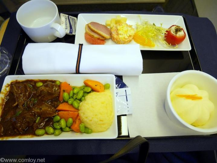 全日空NH860 香港ー羽田 ビジネスクラス機内食
