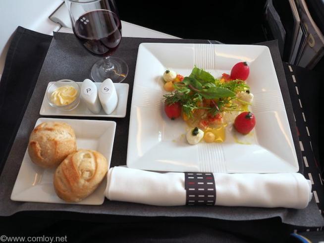 日本航空 JL31 羽田 -バンコク ビジネスクラス機内食
