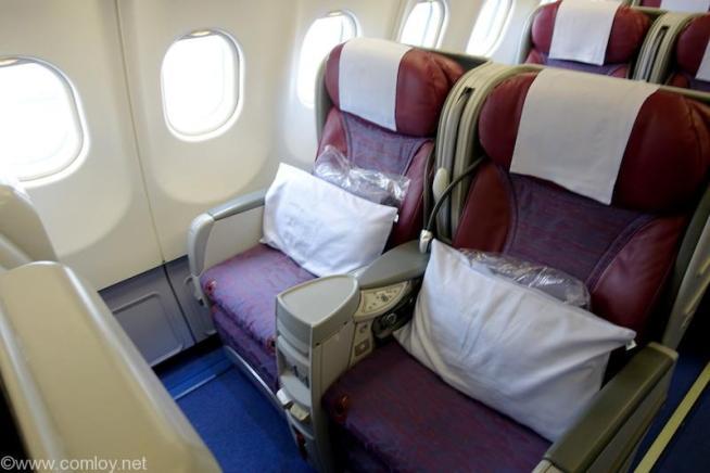 中華航空 CI835 台北(桃園) - バンコク ビジネスクラス