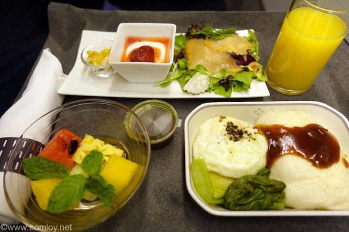 日本航空 JL34 バンコク-羽田 ビジネスクラス 朝食