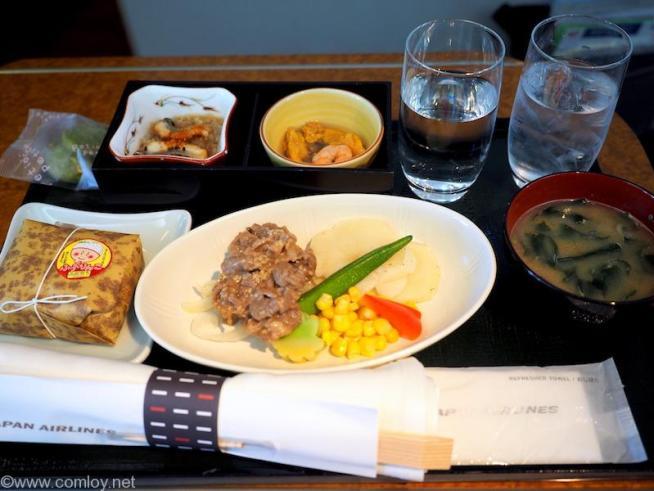 日本航空 JAL506便 札幌ー羽田 国内線ファーストクラス機内食