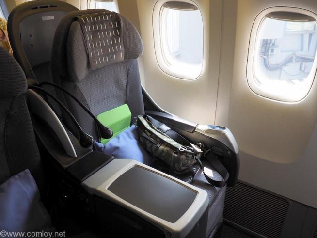 日本航空 JL29 羽田 -香港 ビジネスクラス座席