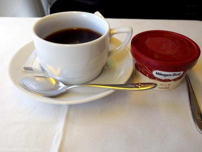 日本航空 JL29 羽田 -香港 ビジネスクラス 機内食