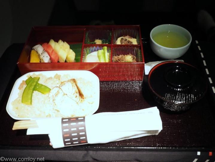 日本航空 JL34 バンコク-羽田 ビジネスクラス機内食