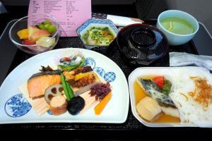 日本航空 JL91 羽田ー金浦 ビジネスクラス機内食