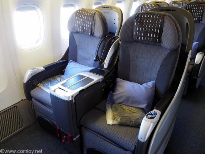 日本航空 JL31 羽田 - バンコク ビジネスクラス座席