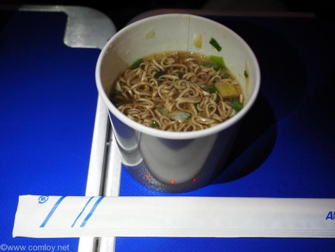 全日空 NH844 シンガポール - 羽田 プレミアムエコノミー 機内食