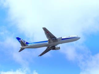 B767 離陸