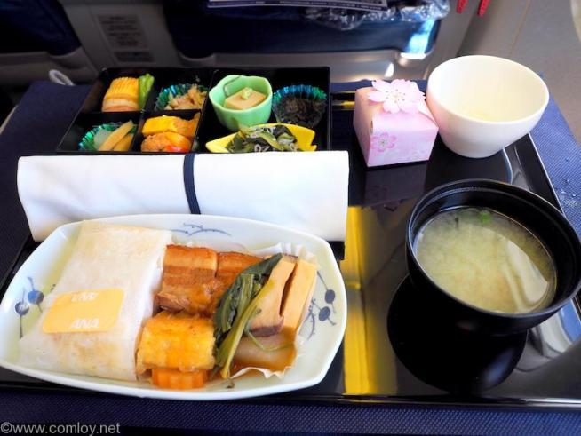 2017年3月 全日空 NH824 台北 (桃園) - 成田 ビジネスクラス機内食