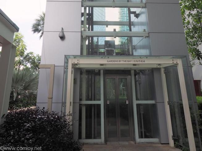 マリーナベイサンズ側のエレベーター