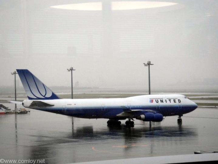 なぜかユナイテッド機が羽田空港に!