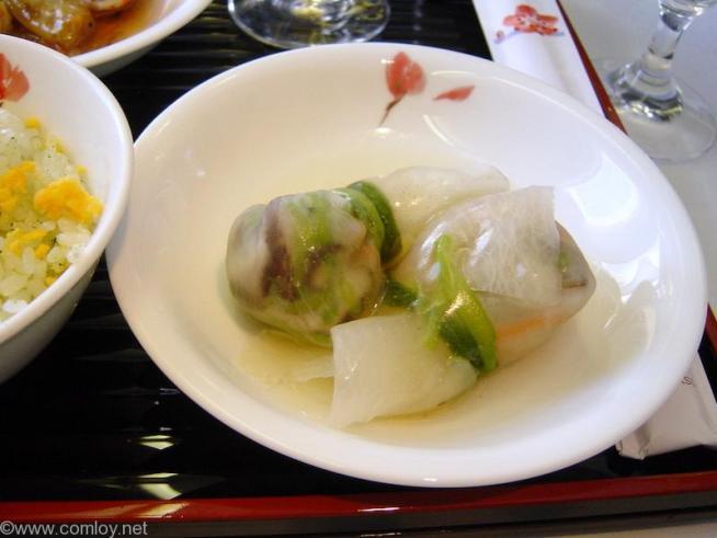 チャイナエアライン CI107 成田 - 台北 ファーストクラス 機内食