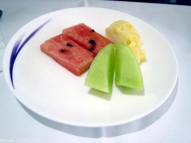チャイナエアライン CI695 台北 - バンコクビジネスクラス機内食
